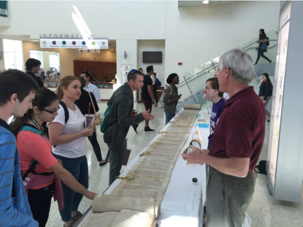 Torah Scroll on Tour at Churches